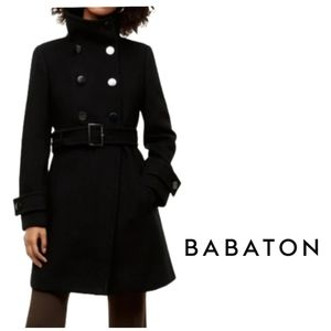 Aritzia BABATON Bromley Wool Cashmere Belted Coat